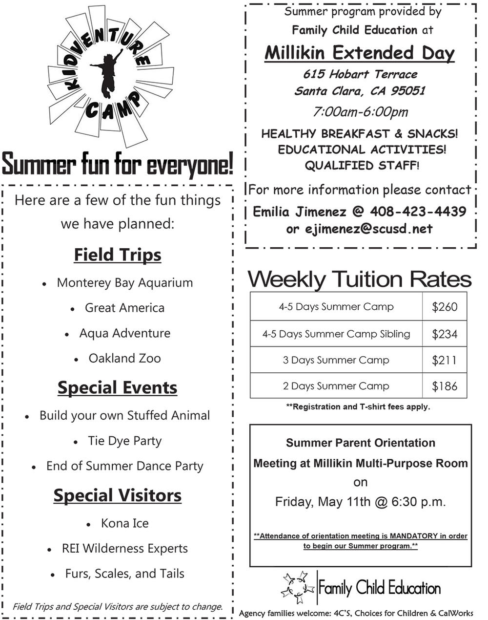 Extended Day Summer Camp Page 1
